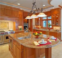 Kitchen Remodel Design has Lighting Selected for Looks and Function